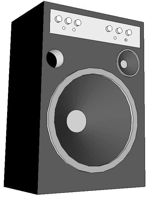 Caixa de som amplificada para guitarra e violão
