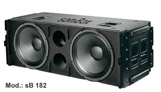 Caixa para graves linha array com alto falante de 18 quot 193 udio e