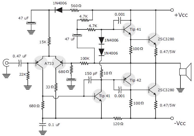 lificador De 200 Watts Estereo together with Circuito  lificador Transistor Darlington Tip142 Tip 147 moreover Different Types And Applications Of  lifiers together with ment 7860 in addition Uhf Transmitter. on transistor amplifier