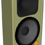 Caixa de alta performance com 2 vias para alto falantes de 12 polegadas