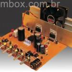 Amplificador de 180 watts RMS com entrada para microfone, linha e equalizador