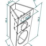 Caixa para suspender de 3 vias profissional de 300 watts