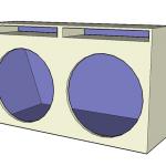 Projeto Caixa automotiva para o alto falantes GTX 1800 da SNAKE 1300 w
