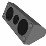 Projeto de caixa monitora com 2 alto falantes de 12 e um driver