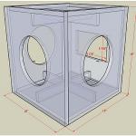 Projeto de subwoofer ativo para 3 alto falantes de 10 polegadas
