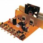 Amplificador de 180 watts com o tda 7294 com entradas para microfone e linha