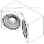 Subwoofer automotivo de 800 watts