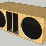 Projeto de caixa de som PANCADÃO DUPLA para falante 12 pol. 500 watts