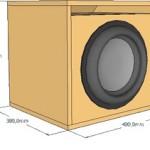 Projeto para sub woofer de 12 500 watts com duto.