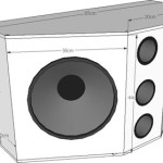 Sub woofer duplo com alto-falantes de 12 e 500 watts