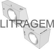 Calculadora de litragem de caixas de som retangulares e trapezoidais