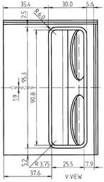 CLICK PARA AMPLIAR - Vista da traseira da caixa
