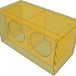 Projeto de caixa retangular ideal para som automotivo com 2 subwoofer de 15 polegas.