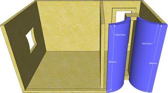 click na imagem para ampliar -- PARTES DA CORNETA PARA MÉDIOS COM MEDF DE 18mm
