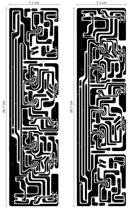 click na imagem para ampliar -- LAYOUT DO CIRCUITO IMPRESSO DO CROSSOVER.