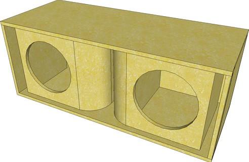 Projeto line array com 2 alto-falantes de 12 polegadas 400 watts e 2 drivers de 300 watts rms