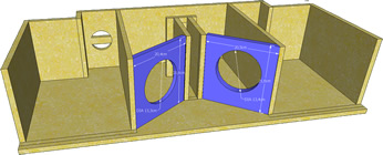 click na imagem para ampliar -- BAFLES PARA OS FALANTES DE 6 POLEGADAS.