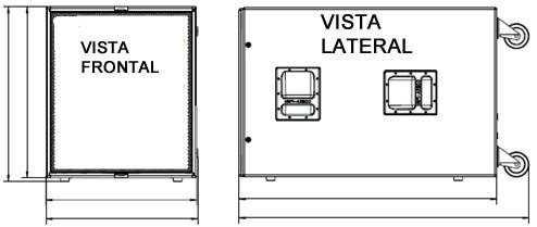 Como mostra a figura acima é aconselhável  a colocação de RODAS para facilitar o seu transporte.