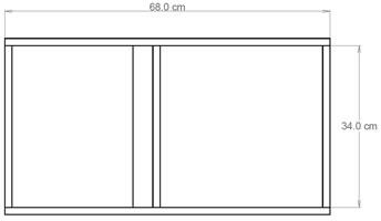 click na imagem para ampliar -- VISTA FRONTAL COM AS MEDIDAS