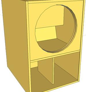 Projeto de uma MINI SCOOPER para alto falantes de 18 polegadas.