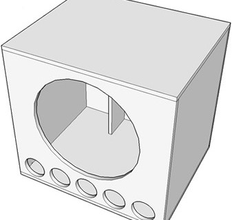 Projeto de um super sub para alto falante 21″ 3000 Watts.
