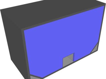 Projeto band pass 6 ordem para dois alto falantes de 12″ 1000 Watts.
