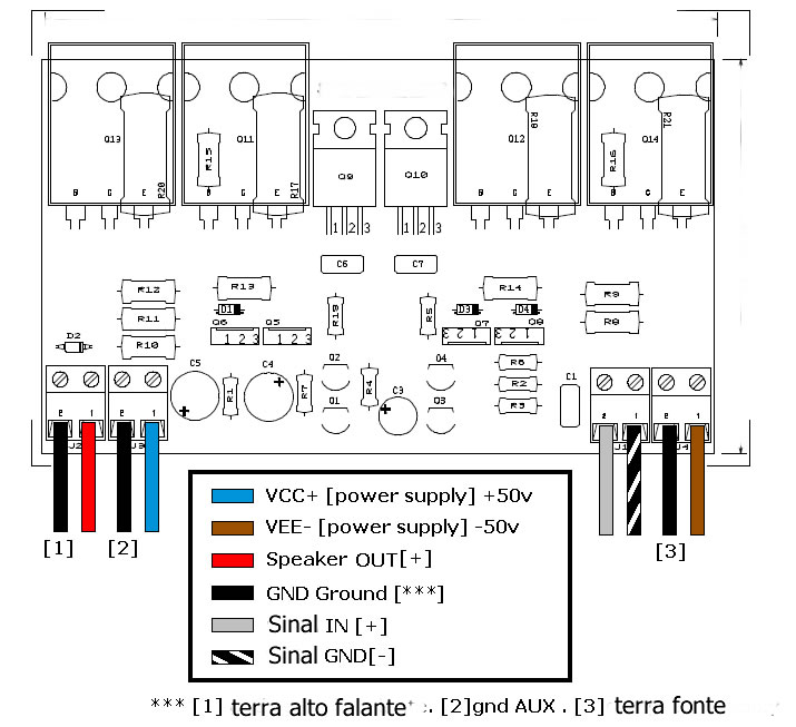 circuit power amplifier using ic741 for buffer stage  and