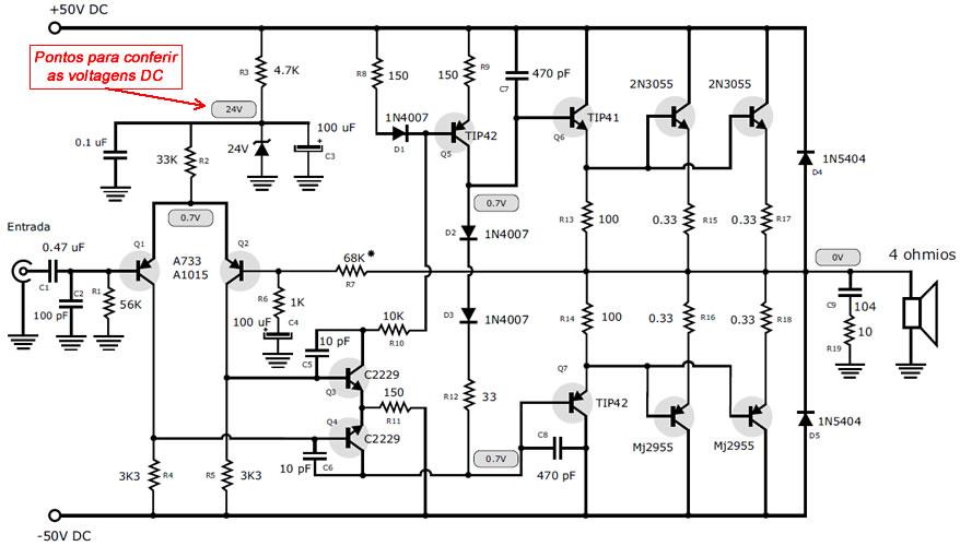 Circuito Eletronico : Esquema eletrÔnico sombox